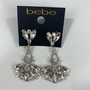 Bebe Silver Floral Earrings NWT $34